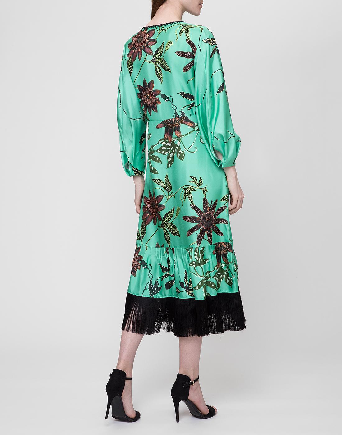 Женское шелковое платье с узором Dorothee Schumacher S749602/059-4
