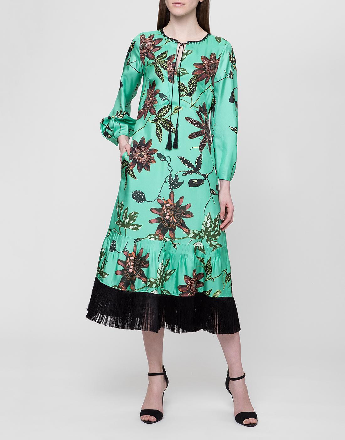 Женское шелковое платье с узором Dorothee Schumacher S749602/059-5
