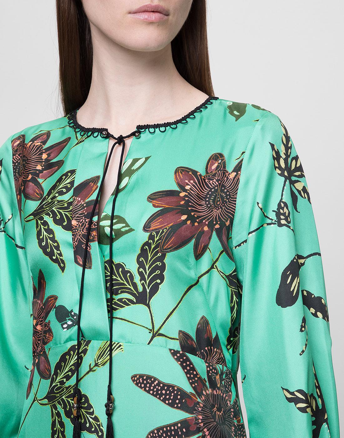 Женское шелковое платье с узором Dorothee Schumacher S749602/059-6