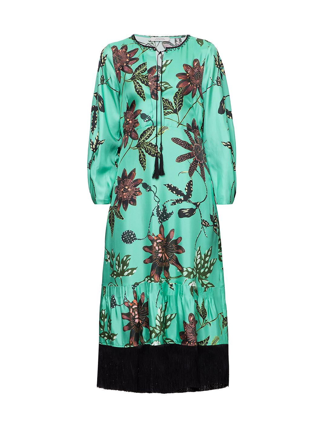 Женское шелковое платье с узором Dorothee Schumacher S749602/059-1