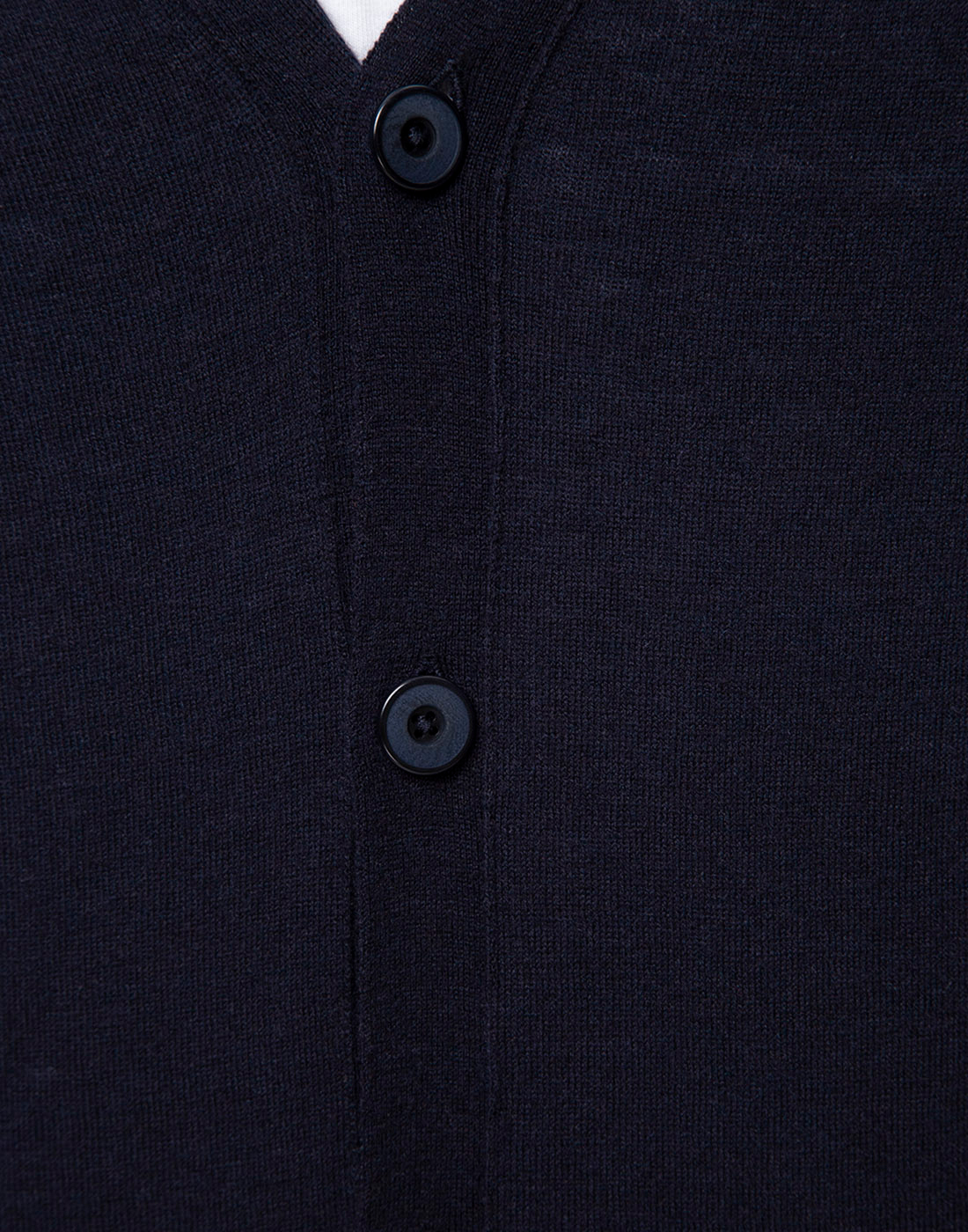 Мужской темно-синий шерстяной кардиган