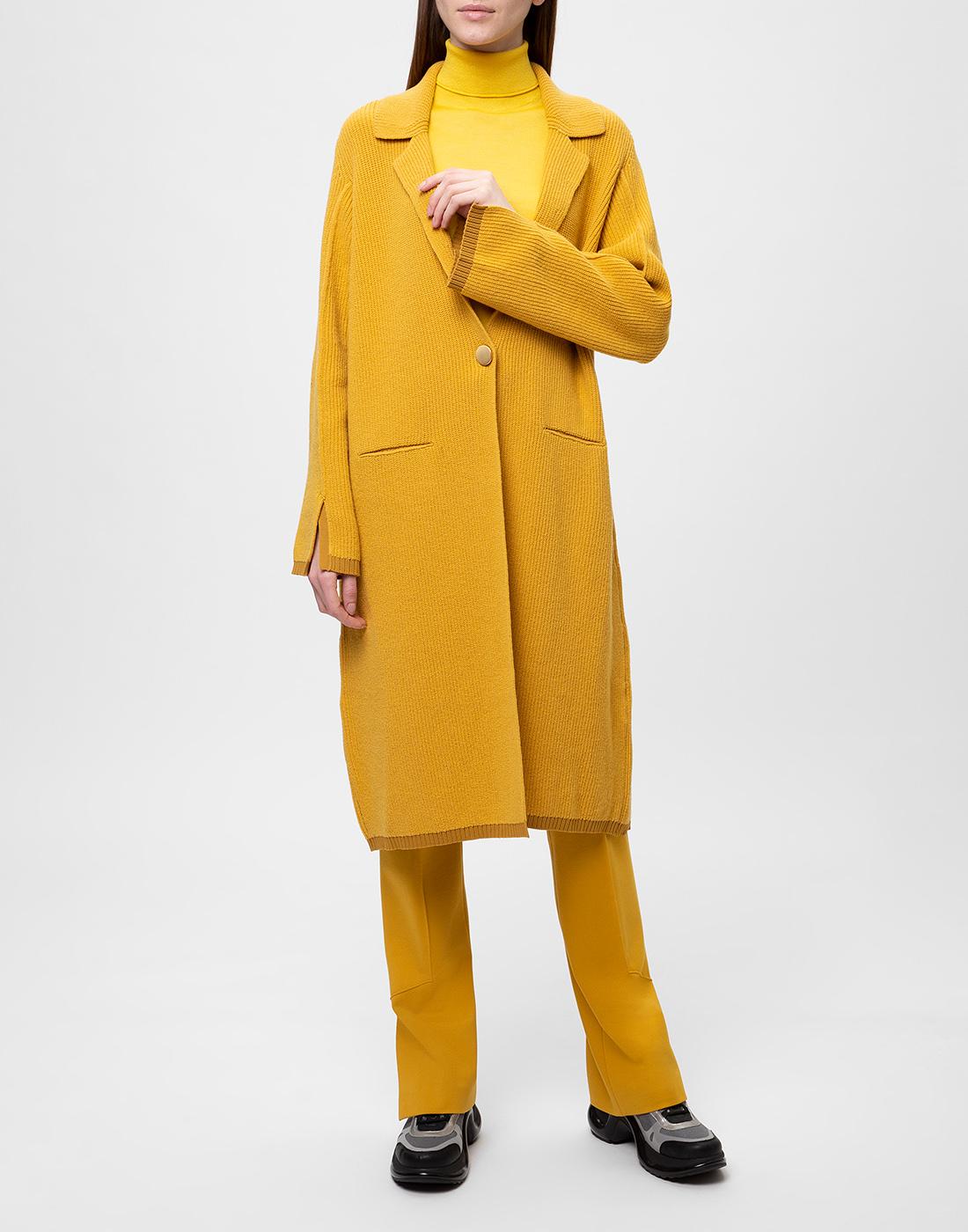 Женское горчичное пальто Dorothee Schumacher S616204/237-2