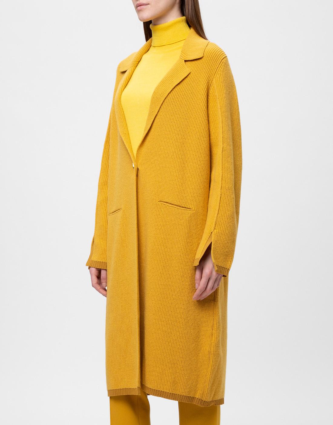 Женское горчичное пальто Dorothee Schumacher S616204/237-3