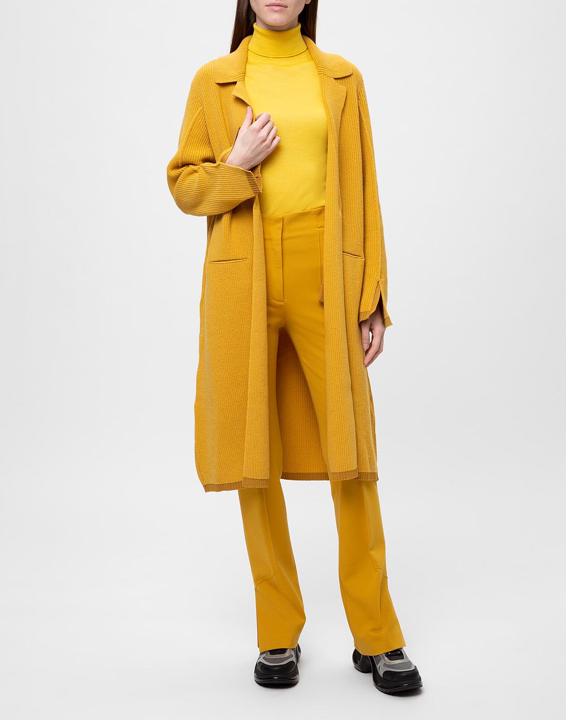 Женское горчичное пальто Dorothee Schumacher S616204/237-5