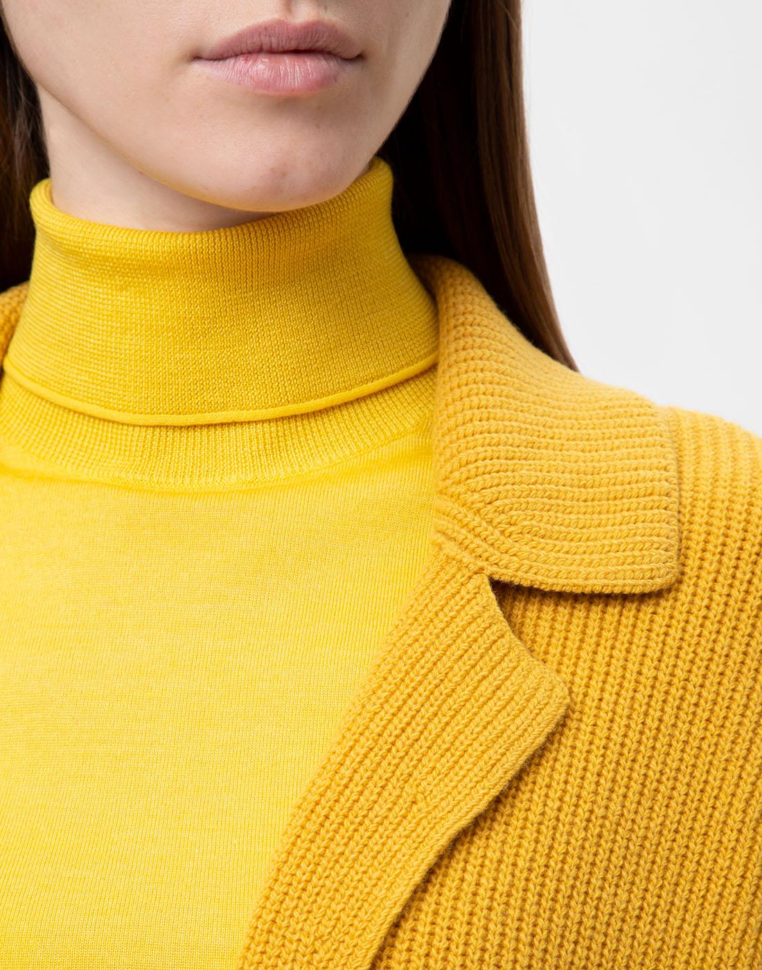 Женское горчичное пальто Dorothee Schumacher S616204/237-6
