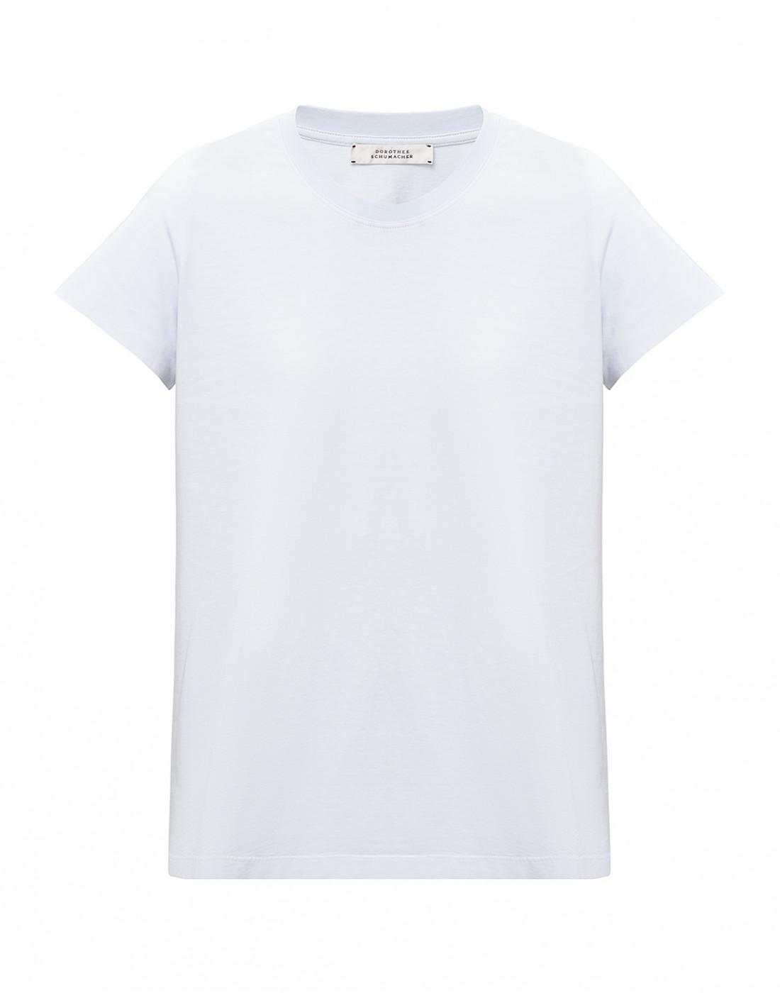 Женская голубая футболка  Dorothee Schumacher S623001/801-1