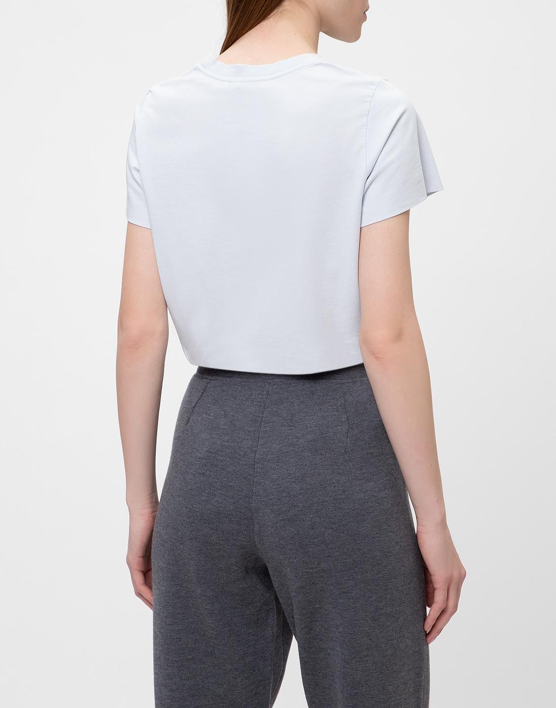 Женская голубая футболка  Dorothee Schumacher S623001/801-4