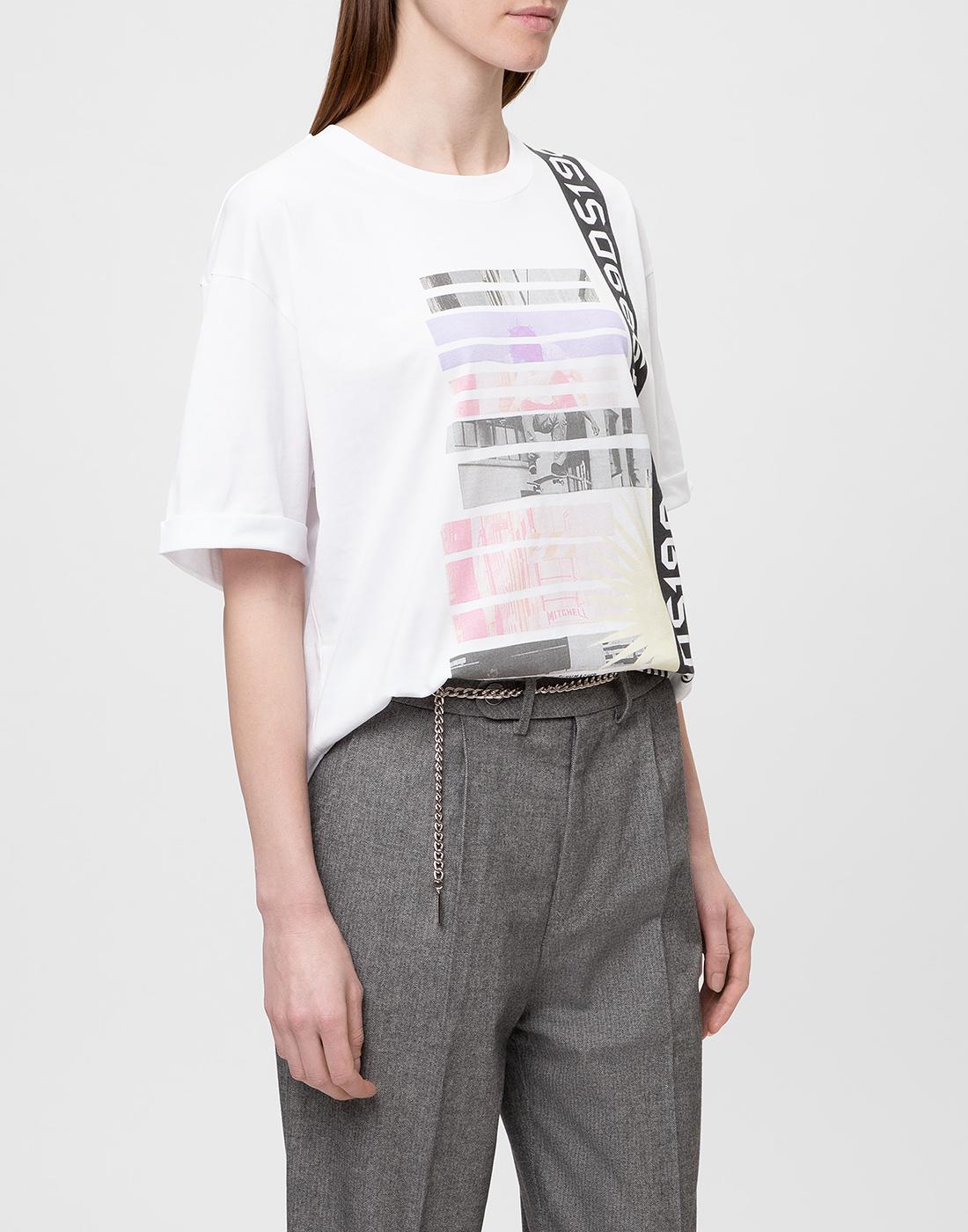 Женская белая футболка с принтом Dorothee Schumacher S623501/100-3