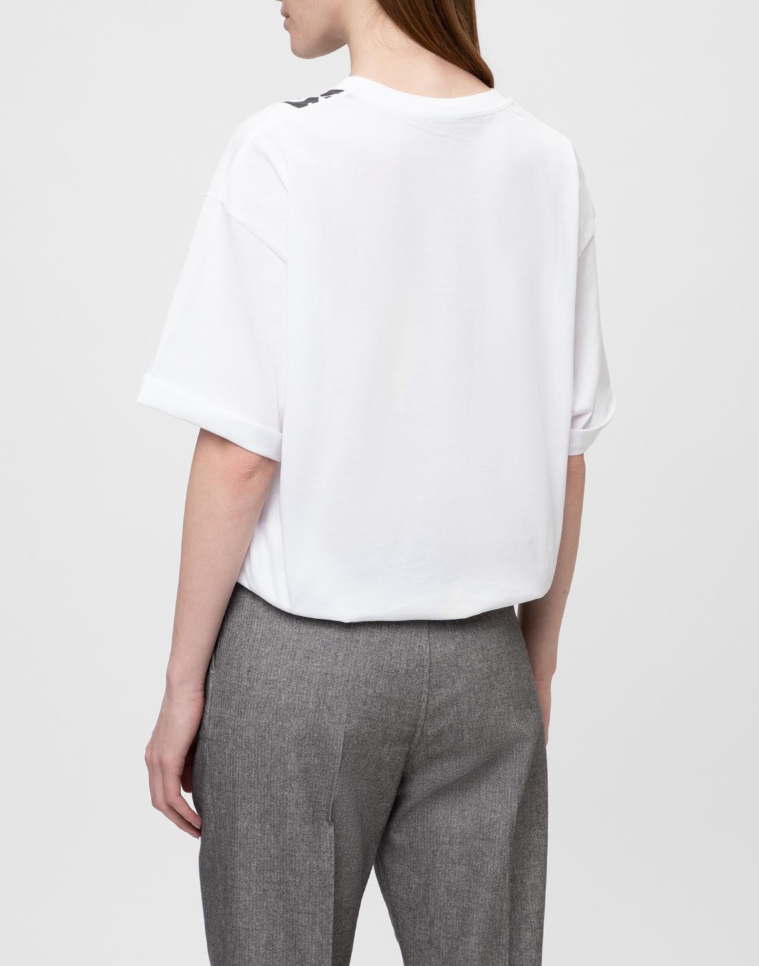 Женская белая футболка с принтом Dorothee Schumacher S623501/100-4