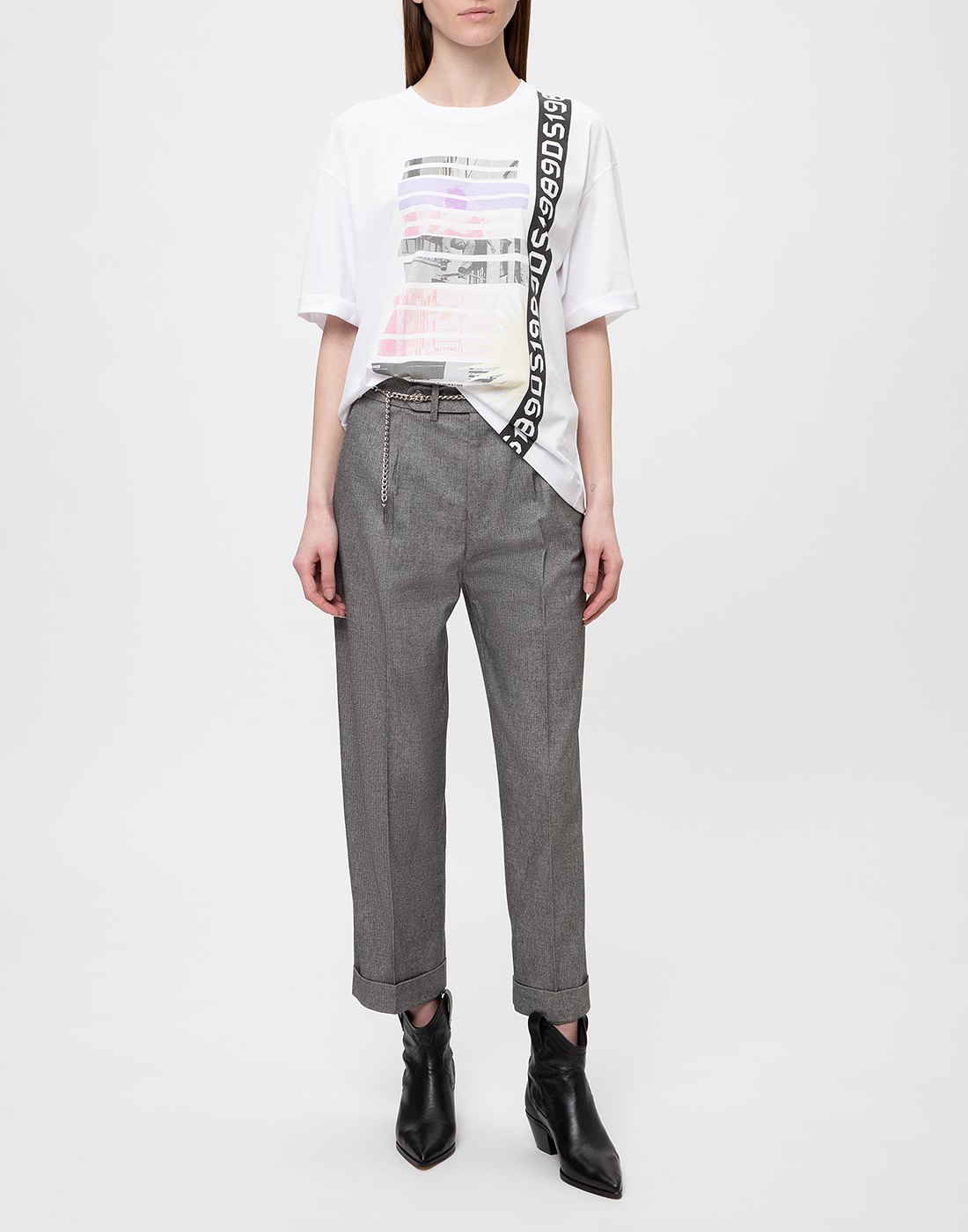 Женская белая футболка с принтом Dorothee Schumacher S623501/100-5