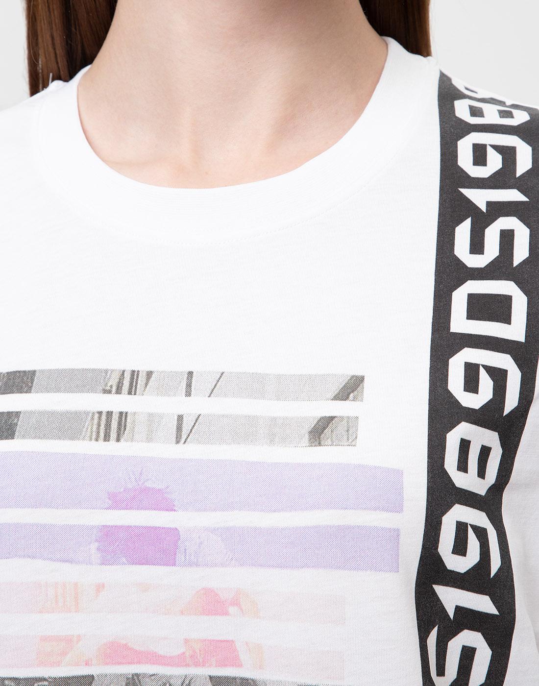 Женская белая футболка с принтом Dorothee Schumacher S623501/100-6