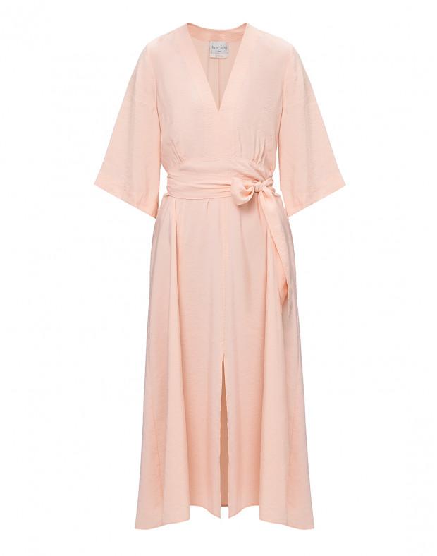 Женское персиковое платье