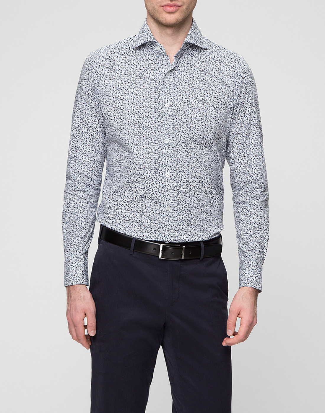 Мужская белая рубашка Bagutta S09511.656-2