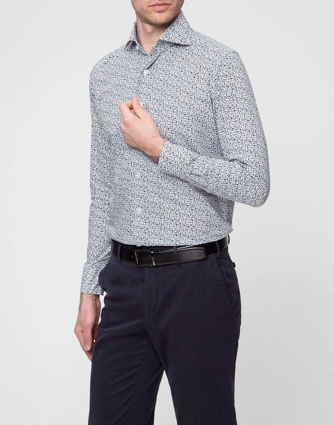 Мужская белая рубашка Bagutta S09511.656-3