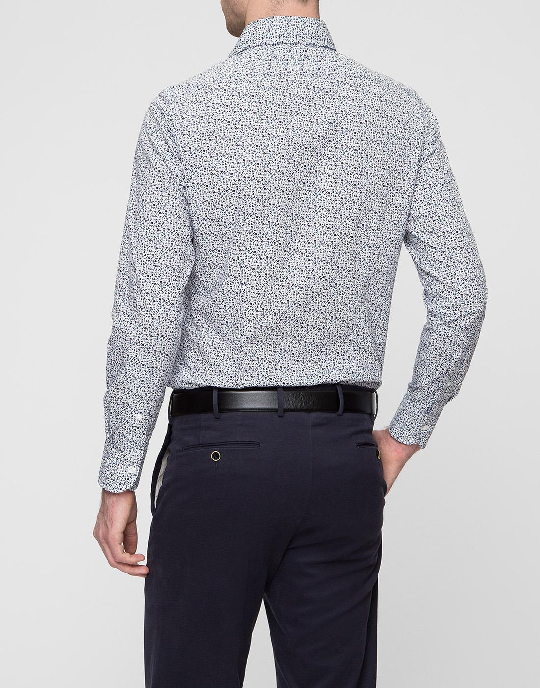 Мужская белая рубашка Bagutta S09511.656-4