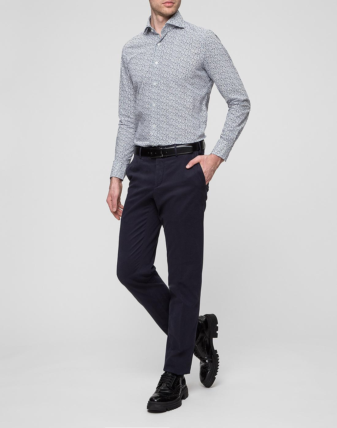 Мужская белая рубашка Bagutta S09511.656-5