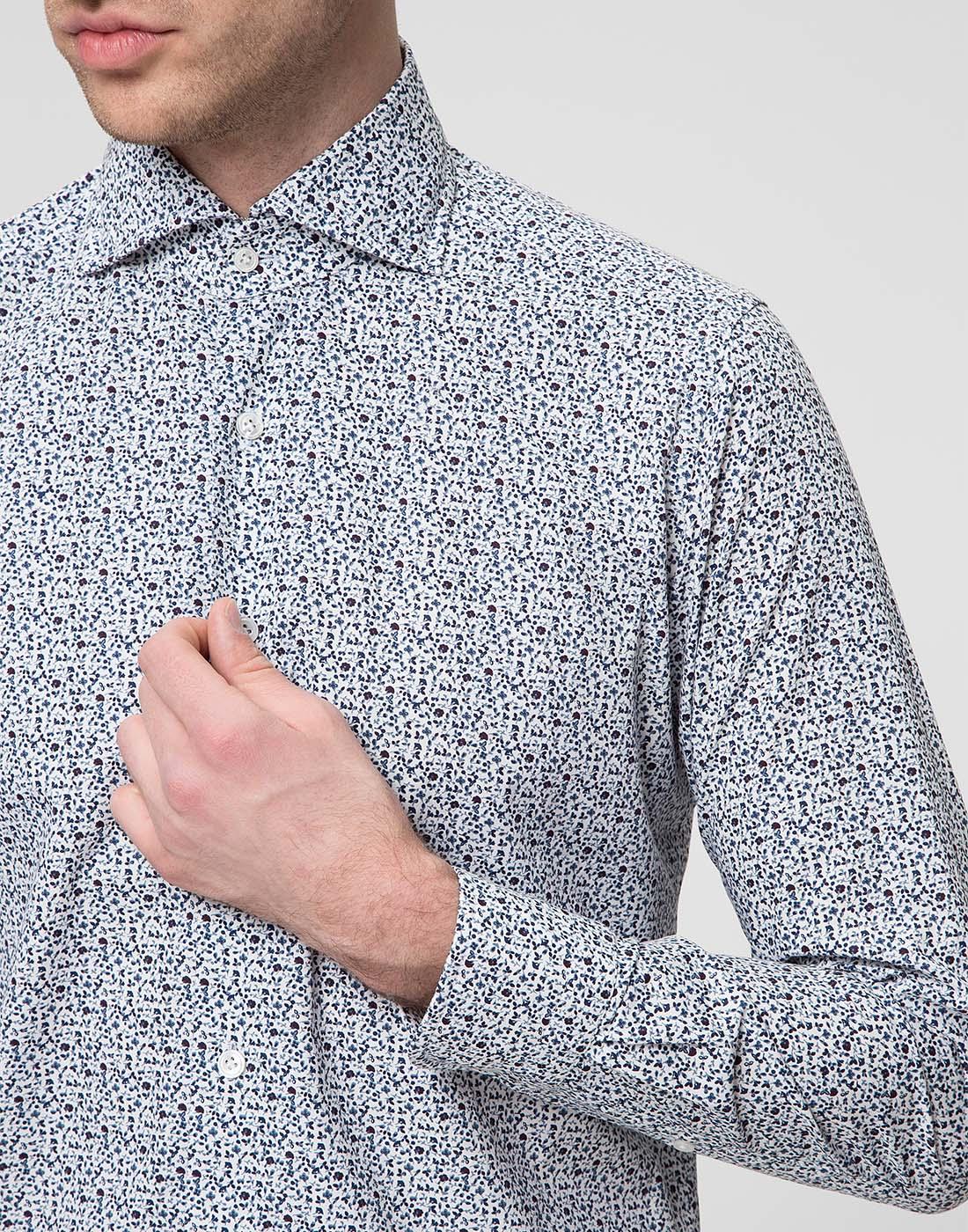 Мужская белая рубашка Bagutta S09511.656-6