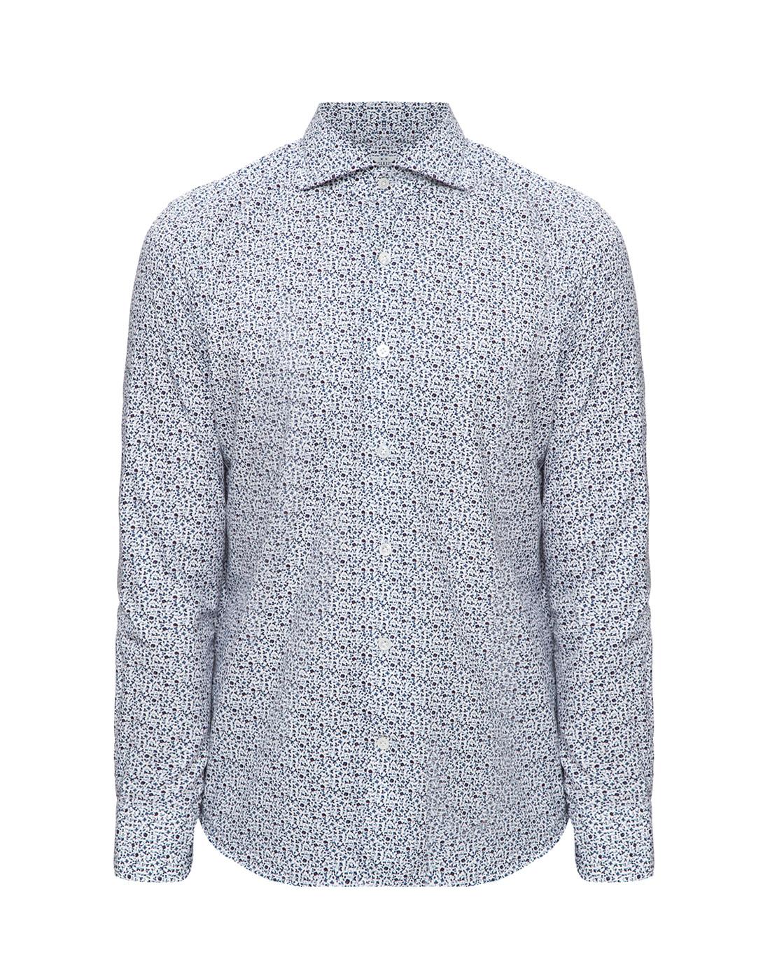 Мужская белая рубашка Bagutta S09511.656-1