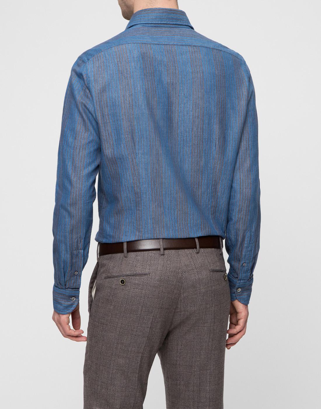 Мужская синяя рубашка Bagutta S09555.250-4