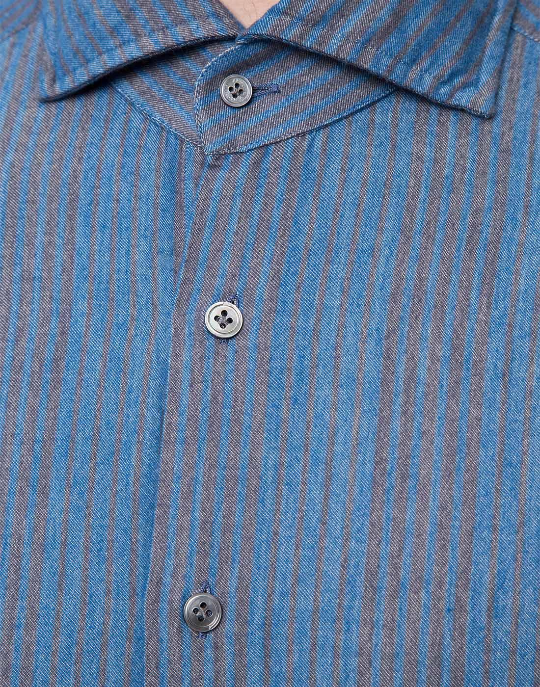 Мужская синяя рубашка Bagutta S09555.250-6