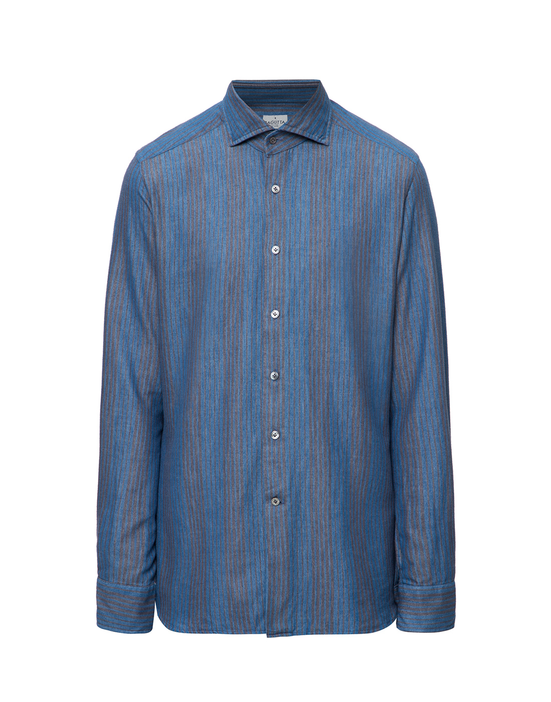 Мужская синяя рубашка Bagutta S09555.250-1