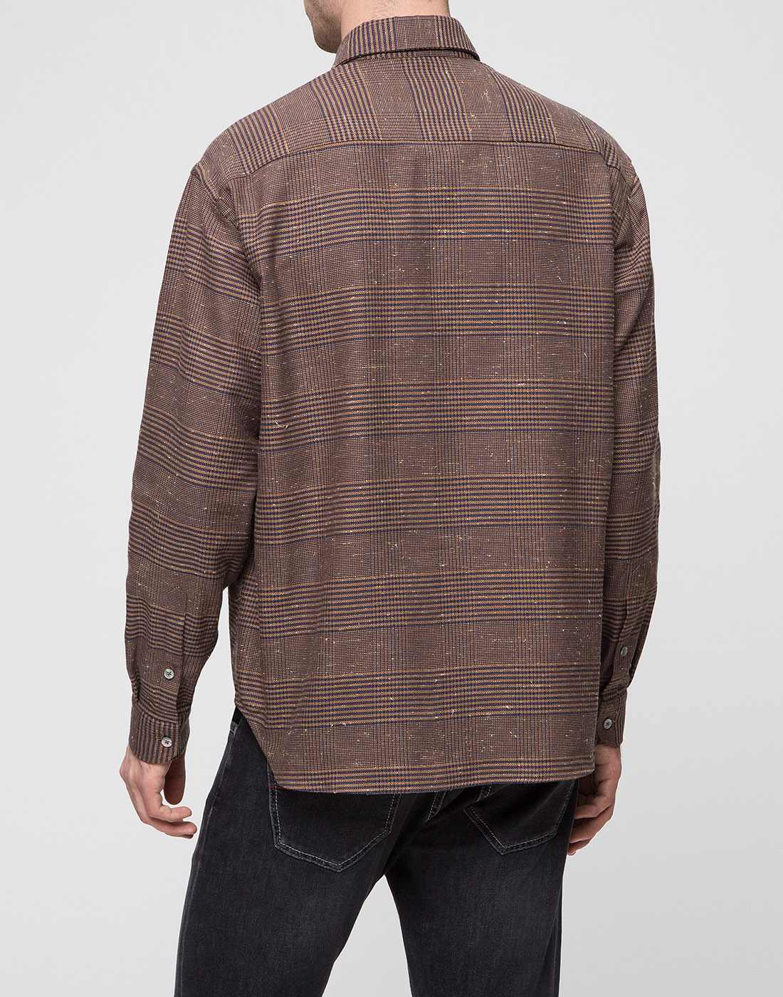Мужская коричневая рубашка Bagutta S09563.470-4