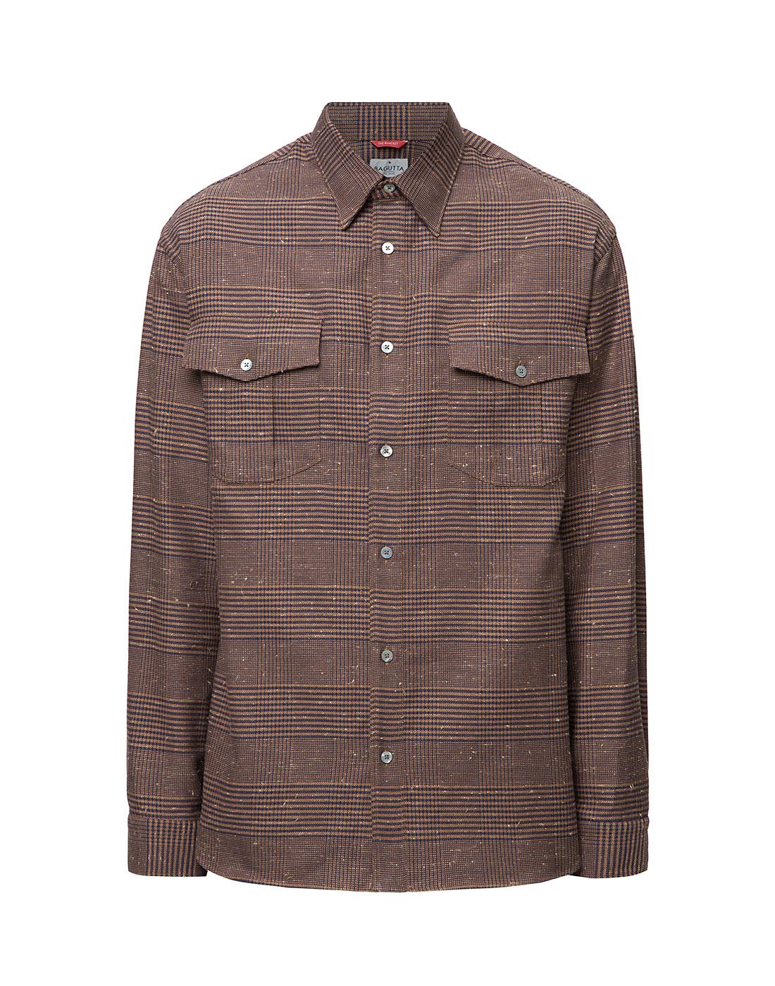 Мужская коричневая рубашка Bagutta S09563.470-1