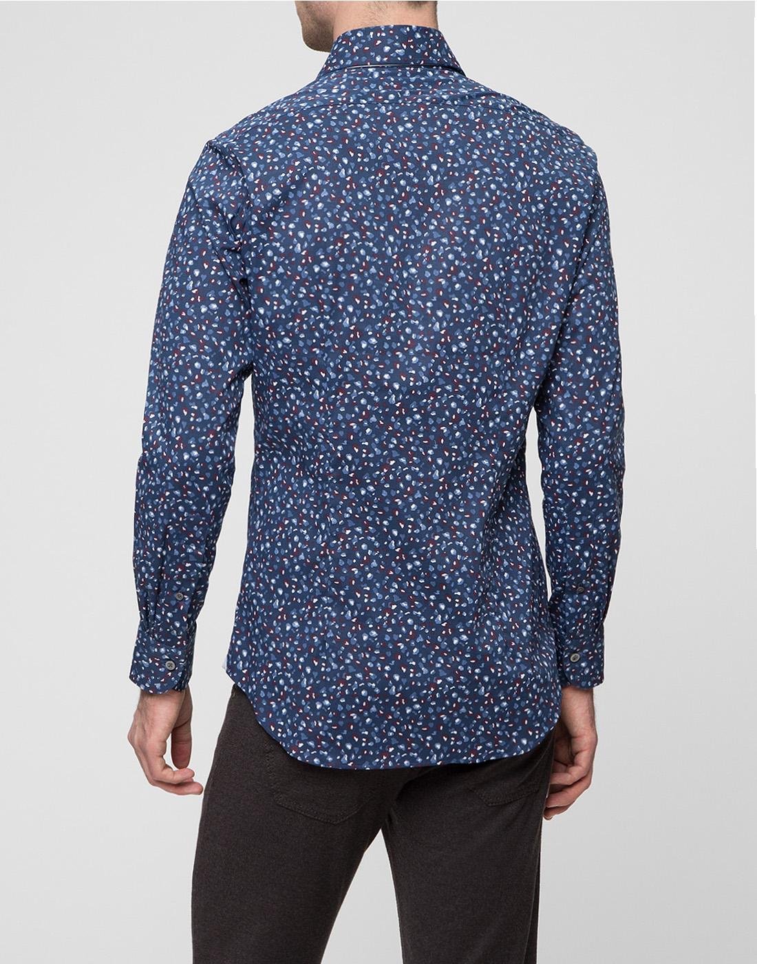 Мужская синяя рубашка Bagutta S09597.650-4