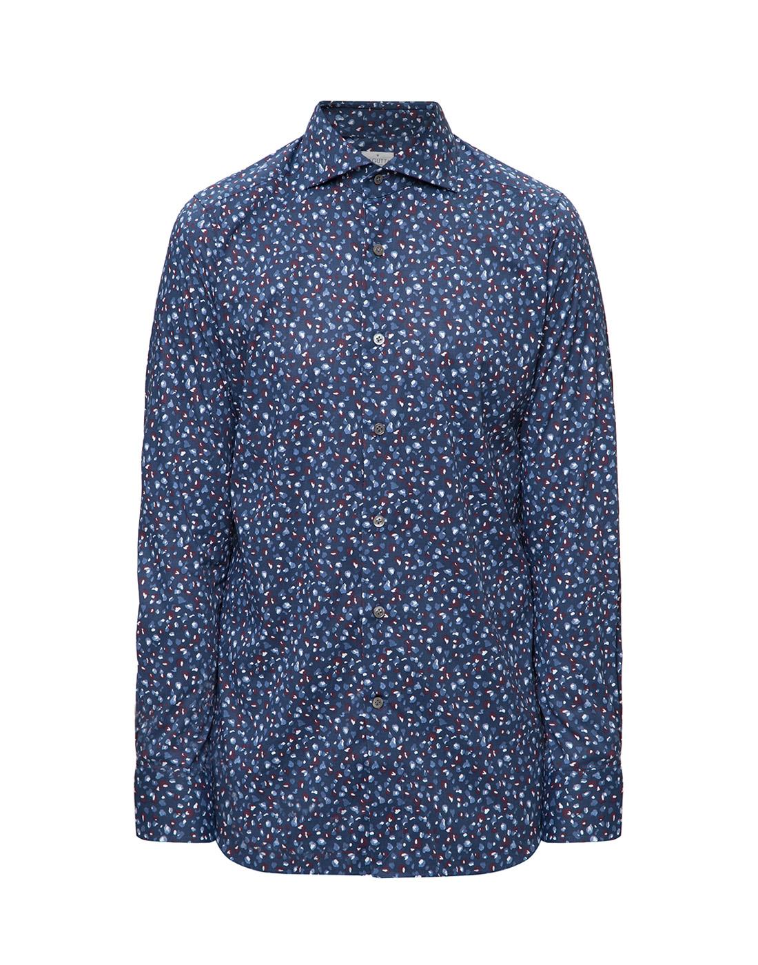 Мужская синяя рубашка Bagutta S09597.650-1