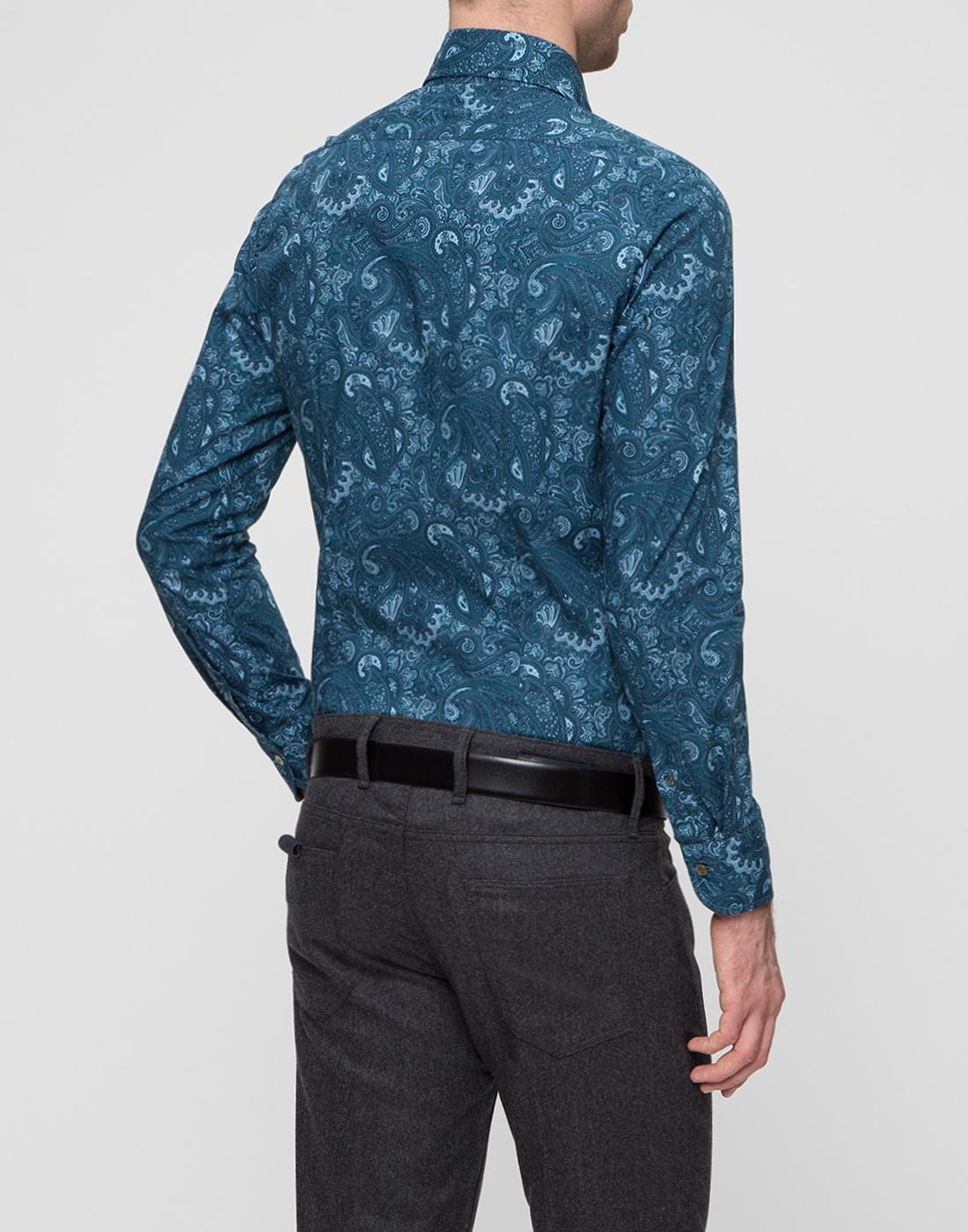 Мужская рубашка бирюзового цвета Bagutta S09715.650-4