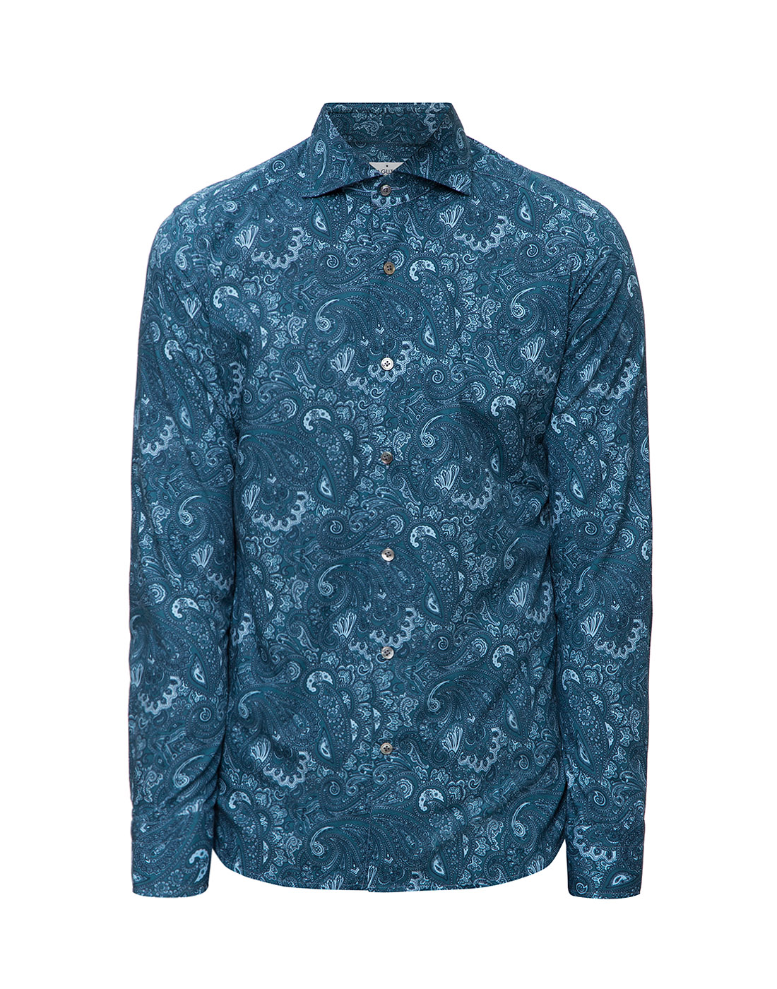Мужская рубашка бирюзового цвета Bagutta S09715.650-1