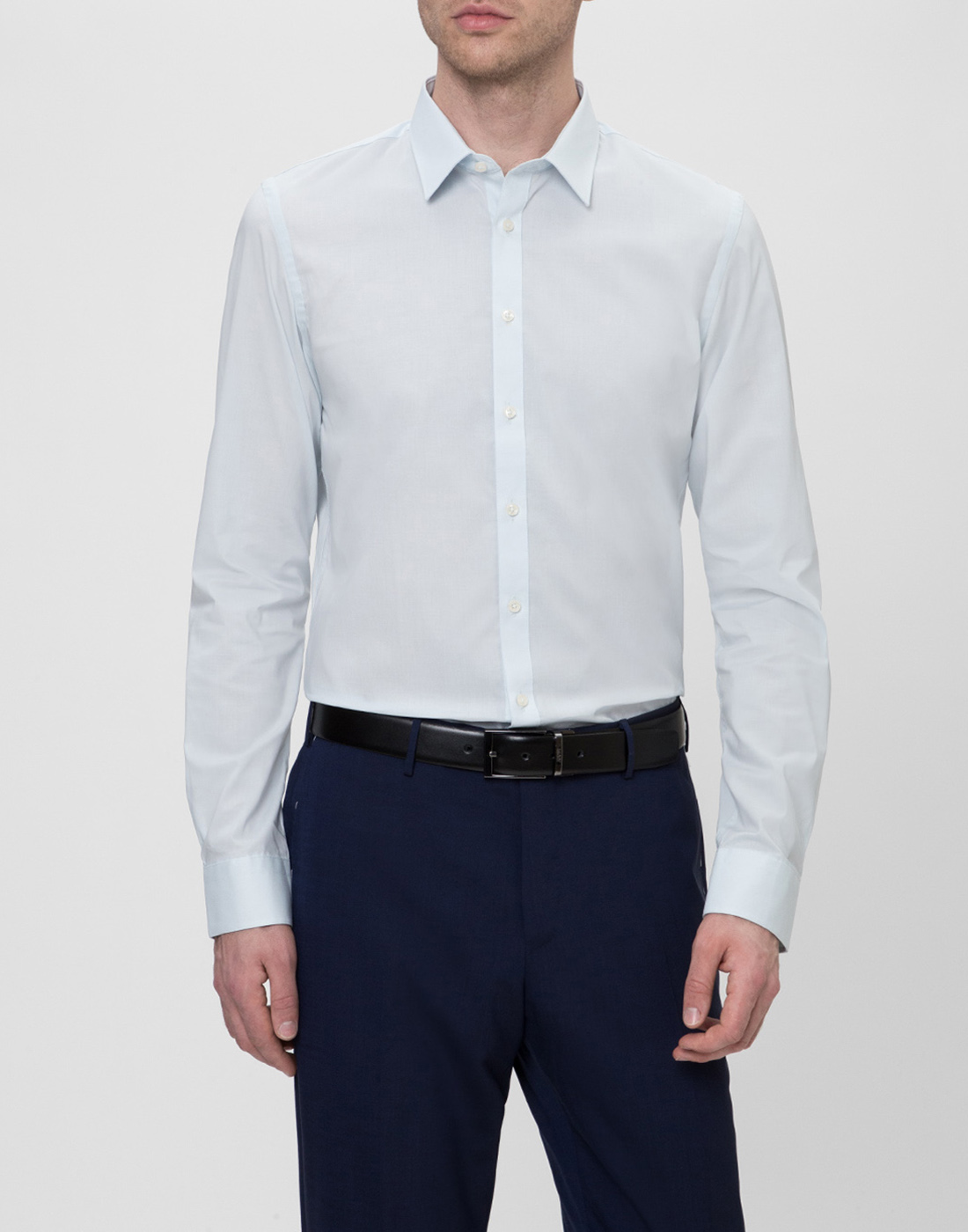 Мужская светло-голубая рубашка Profuomo SPP0H0D002-2