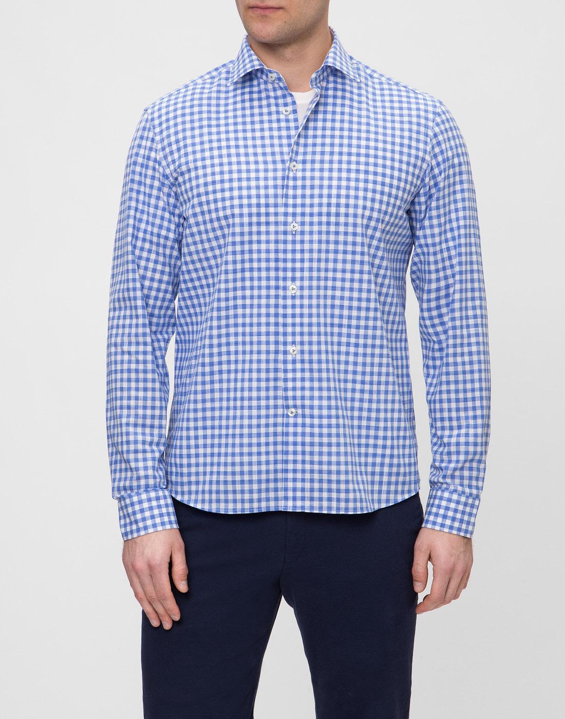 Мужская рубашка в клетку  Van Laack STETON2-TF05 161867/740-2