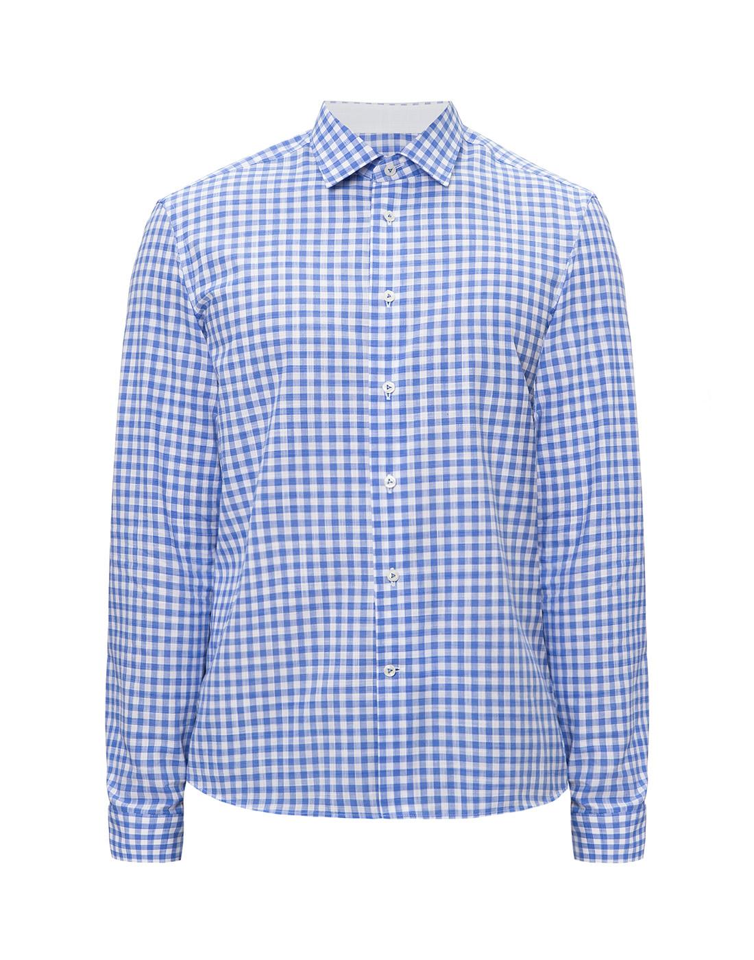 Мужская рубашка в клетку  Van Laack STETON2-TF05 161867/740-1