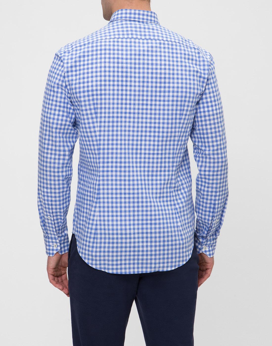 Мужская рубашка в клетку  Van Laack STETON2-TF05 161867/740-4