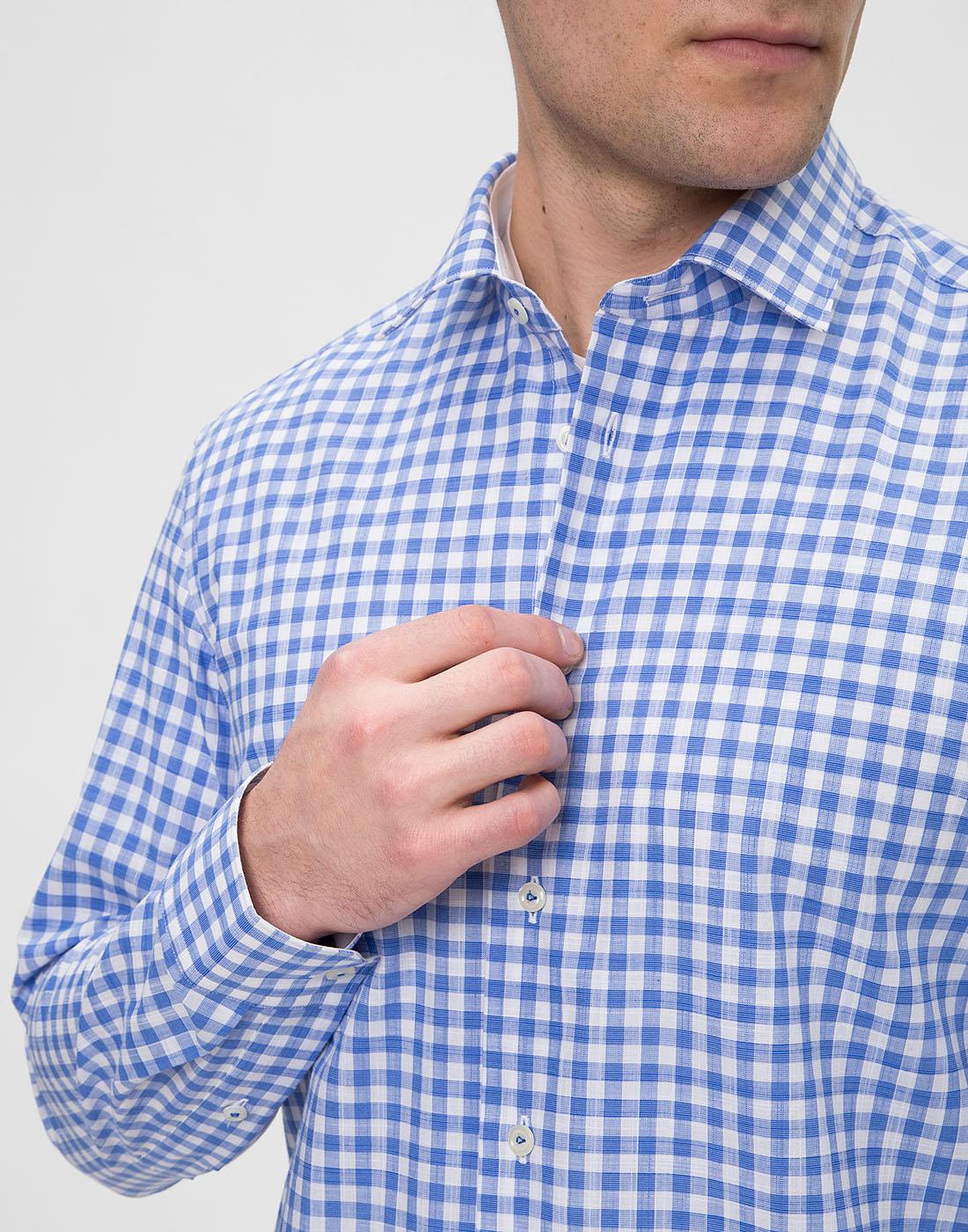 Мужская рубашка в клетку  Van Laack STETON2-TF05 161867/740-6