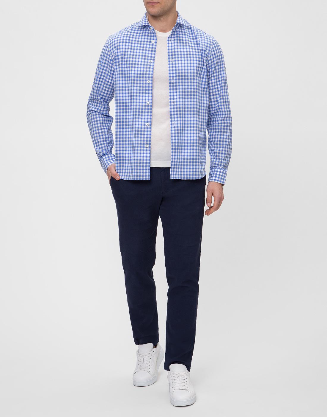 Мужская рубашка в клетку  Van Laack STETON2-TF05 161867/740-5